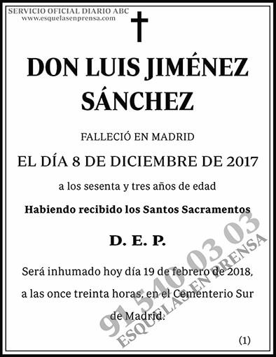 Luis Jiménez Sánchez